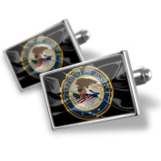 Neonblond Cufflinks Department of Justice United States Flag - cuff links for man