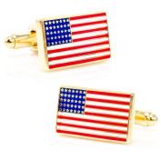 Cufflinks Inc Gold American Flag Cufflinks