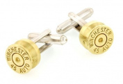 45 calibre cartridge end cufflinks with presentation box. Made in the USA