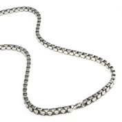 """Men's Stainless Steel Box Chain Necklace 3 MM 24"""""""
