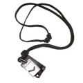 Gemini Brown Leather and Alloy Pendant Adiustable Necklace Mens Necklace Unisex Necklace Cool Necklace Pl1347