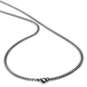 """Men's Stainless Steel Curb Chain Necklace 4mm 24"""""""
