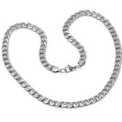 Solid Stainless Steel Chain Link Mens Necklace 61cm