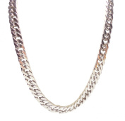 Necklace Mens Stainless Steel Silver Curb Chain 12 mm - 24 inch - Kiki's Favourite Cuban Curb Chain