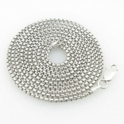 Mens .925 Italian Sterling Silver Box Link Chain Length - 30 inches Width - 2mm