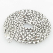Mens .925 Italian Sterling Silver Popcorn Link Chain Length - 36 inches Width - 3.5mm