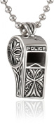 Police Idol Stainless Steel Whistle Men's Pendant Necklace