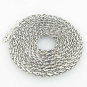 Mens .925 Italian Sterling Silver Wheat Link Chain Length - 36 inches Width - 2.5mm