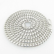 Mens .925 Italian Sterling Silver Cuban Link Chain Length - 30 inches Width - 6mm