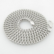 Mens .925 Italian Sterling Silver Franco Link Chain Length - 36 inches Width - 4mm