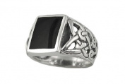 Sterling Silver 10x16mm Black Onyx Mens Ring