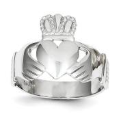 14k White Gold Men's Claddagh Ring