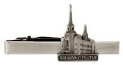 LDS Brigham City Utah Temple Silver Steel Tie Bar - Tie Clip - Priesthood Gift, LDS Missionary, Tie Clip