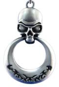 Tribal Door Knocker Skull Pewter Necklace / Pendant