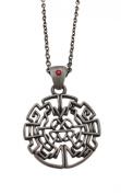 Pewter Celtic Knotwork Heart Design Pendant Necklace