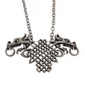 Celtic Knotwork Double Dragon Pendant & Necklace