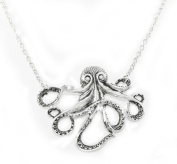 Exclusive ZAD Large Octopus Charm Necklace on Linked Silver Chain AS SEEN ON AMERICAN IDOL!
