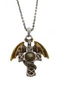 Celtic Cross Dragon Pendant & Necklace Mediaeval