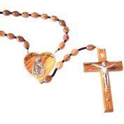 Olive Wood Wall Rosary with Certificate and Gift Box
