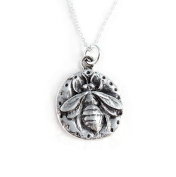 """Sterling Silver """"Queen Bee"""" Charm Necklace"""