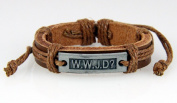 4030533 WWJD What Would Jesus Do Christian Leather Bracelet Scripture Jesus Bible Religious Cross