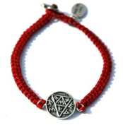 Pregnancy Amulet Hand Woven Bracelet for Women in Red