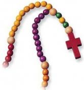 Childrens Rosary. multiple-coloured Non-toxic Wooden 52.1cm