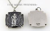6030142 St St Florian Firefighter Protect Us Patron Saint Medallion Necklace Pendant