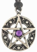 Protected Life Amulet Talisman Pentagram Pentacle Necklace Pendant Charm Religious Wicca Wiccan Pagan Jewellery Star of David Five Pointed Star Amulet Talisman