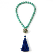 33 Turquoise Muslim Prayer Beads with Nepalese Bead and Blue Tassel