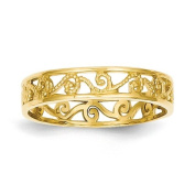 14k Polished & Textured Baby Ring Band