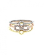 Women's Crystal Pave Infinity Triple Stackable Ring