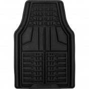 Goodyear 2pc Premium Rubber Floor Mats, Black