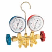 FJC, Inc. 6721 R134a Brass Manifold Gauge Set with Manual Couplers