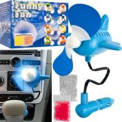 Trademark Tools 12V Aeroplane Shaped Auto Air Freshening Scent Fan