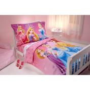 Disney Sparkle Like a Princess 4-Piece Toddler Bedding Set