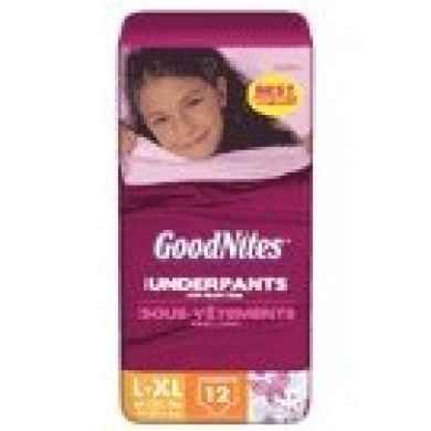 HUGGIES - GoodNites Girls' Underpants Nappies  (sizes L, XL)