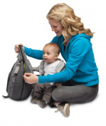 Boppy Travel Pillow Mama, Dot/Basket Green
