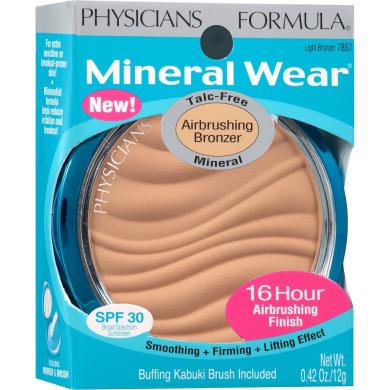 Physicians Formula Mineral Wear Airbrushing Bronzer, 7857 Light Bronzer, 10ml