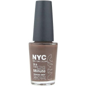 NYC New York Colour In a New York Colour Minute Quick Dry Nail Polish, Brownstone, 10ml