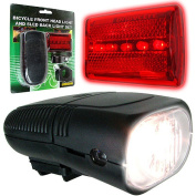 Whetstone Bicycle Headlight and Taillight Set, Bike Safely