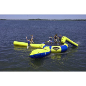 Rave Sports Bongo 4.6m Water Trampoline with Slide and Launch
