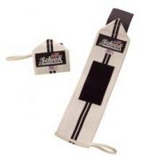 Schiek Sports 1112WS-W 12 in. Schiek Line Heavy Duty Wrist Wraps - White