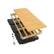Playstar Inc. Commercial Grade Floating Dock with Wood Top