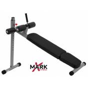 X-Mark Commercial 12 Position Ergonomic Adjustable Decline Ab Bench