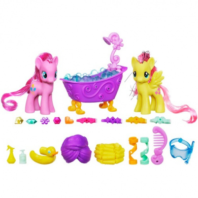 My Little Pony Pinkie Pie & Fluttershy Crystal Sparkle Bath Set