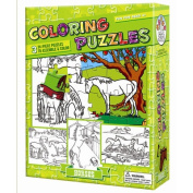 Outset Media Horses Colouring Puzzle