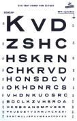 Graham Field Grafco Snellen Type Plasic Eye Chart