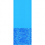 Swimline Swirl Bottom 12' Round Overlap Pool Liner, 121.9cm /132.1cm Deep, Blue