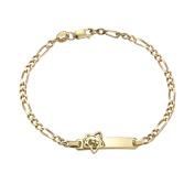 Nickelodeon Dora the Explorer Gold-Plated Bracelet, 12.7cm